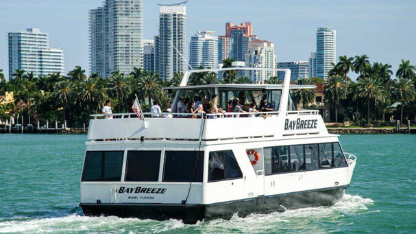 The Bay Breeze cruises passed Star Island during their sightseeing cruise of Biscayne Bay.