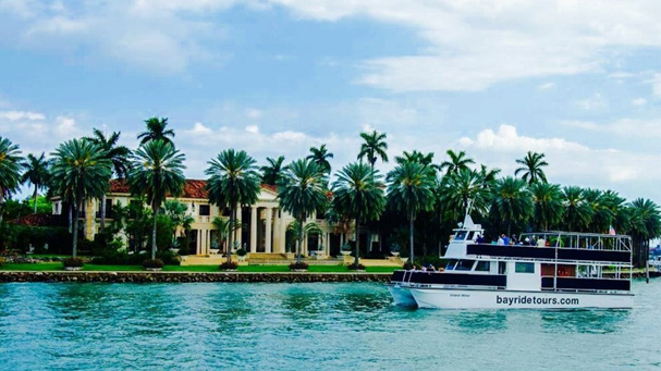 A sightseeing cruise around Biscayne Bay around Star Island is the most popular tour in Miami.