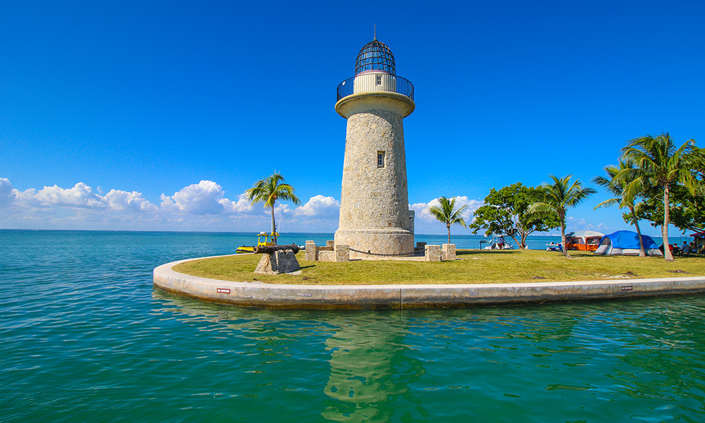 The Boca Chita Lighthouse is one of three lighthouse you see on the cruise