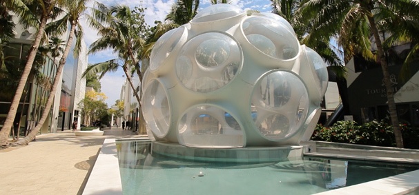 Discover the Buckminster Fuller Fly's Eye Dome during the Miami Design District Culinary Tour
