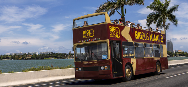 The Big Bus has the nicest double decker buses in Miami.