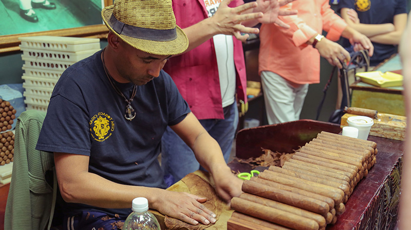 Watch a cigar roller do his thing doing the Little Havana Food Tour.