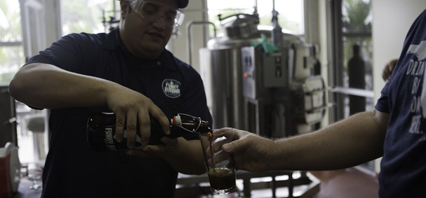 Tourists get to taste the many different beers made from breweries in South Florida.