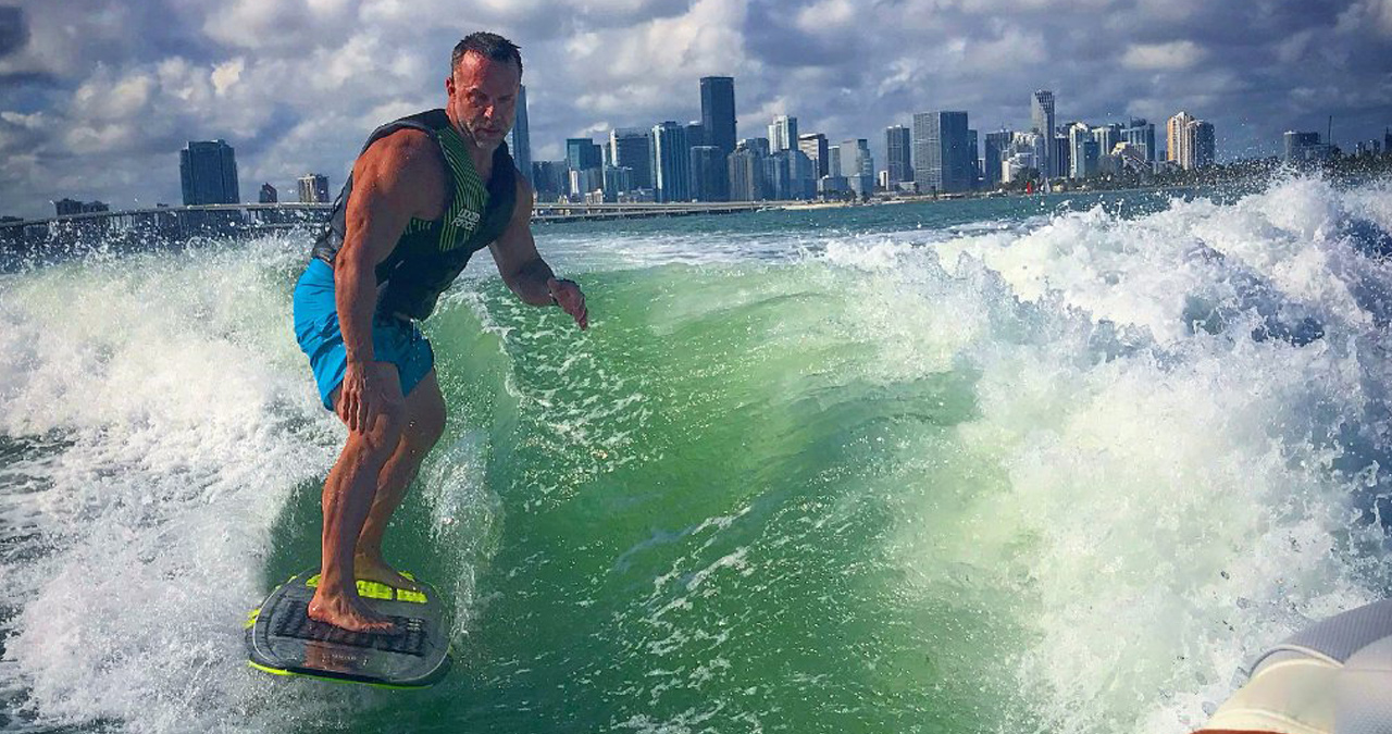 Enjoy wake surfing and get a hands on lesson with the best in Miami.