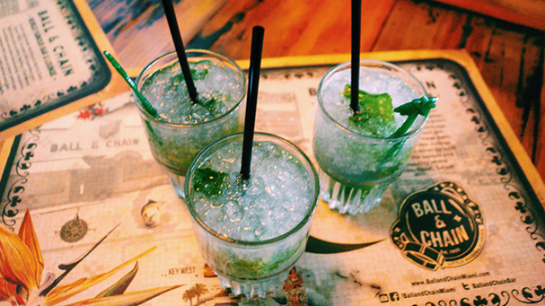 Enjoy a cold mojito during the little havana food tour.
