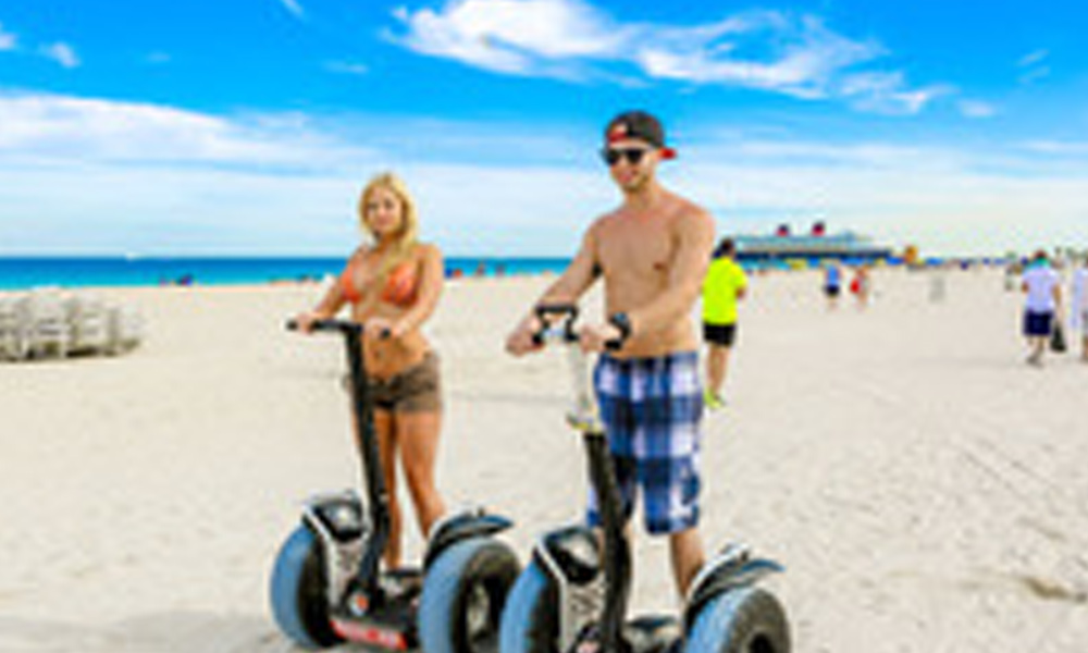 The Segway Tours even allow you to ride across the beach in Miami.