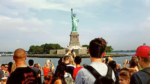 Take a great photo of the Statue of Liberty during this pedestal tour.
