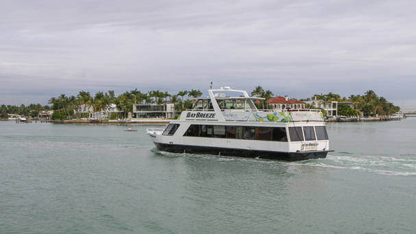 The Bay Breeze hosts the best wine cruises in Miami.