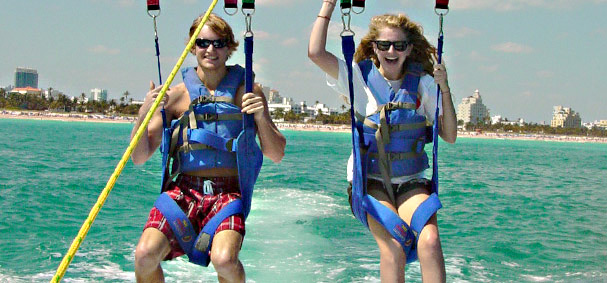 Parasail the ocean off of Miami Beach for the most iconic spot in Miami.